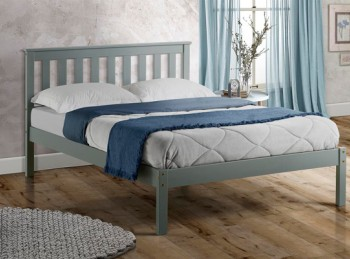 Birlea Denver 4ft Small Double Grey Wooden Bed Frame