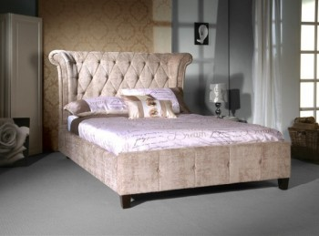 Limelight Epsilon 4ft6 Double Mink Velvet Bed Frame