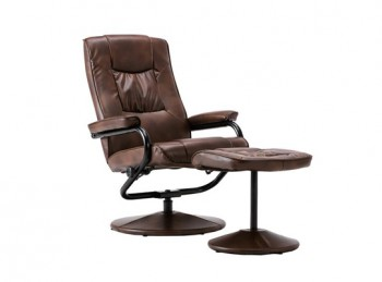 Birlea Memphis Tan Faux Leather Swivel Chair And Stool