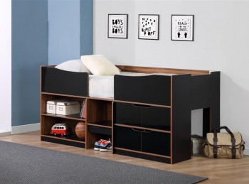 Birlea Paddington Cabin Bed Black and Walnut