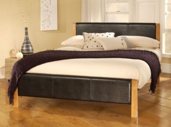 Limelight Mira 3ft Single Black Faux Leather Bed Frame