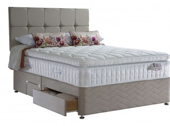 Sealy Juliana Latex 2100 Pocket 4ft6 Double Divan Bed