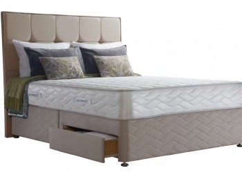 Sealy Pearl Deluxe 4ft Small Double Divan Bed