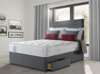 Sealy Activsleep Geltex Pocket Firm 1400 6ft Super Kingsize Divan Bed