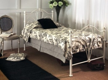 Limelight Nimbus 4ft Small Double Ivory Metal Bed Frame