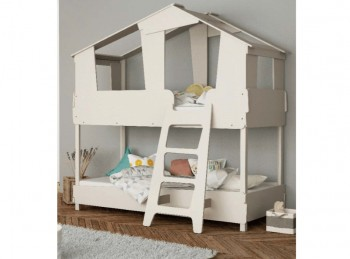 Flair Furnishings Flick White Bunk Bed By Flair Furnishings