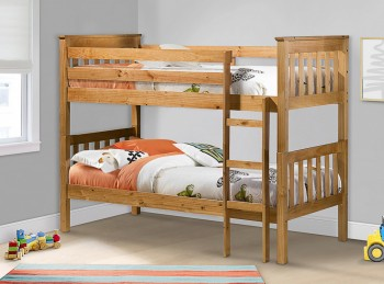 Birlea Portland 3ft Single Wooden Pine Bunk Bed