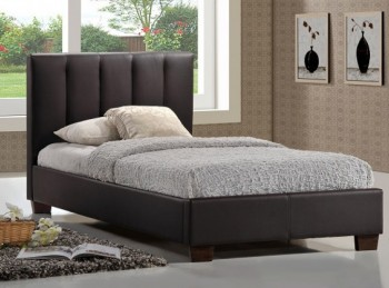 Limelight Pulsar Brown 4ft Small Double Faux Leather Bed Frame