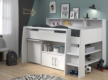 Parisot Swan 1 White Mid Sleeper Bed