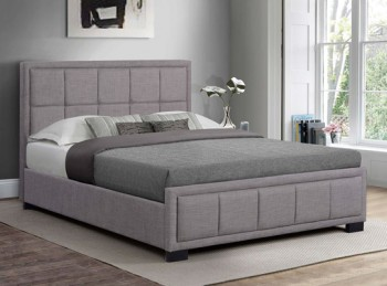 Birlea Hannover 4ft Small Double Grey Fabric Bed Frame