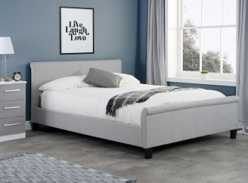 Birlea Stratus 5ft Kingsize Grey Fabric Bed Frame