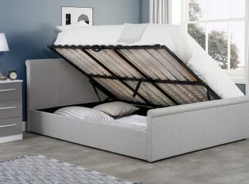 Birlea Stratus 5ft Kingsize Grey Fabric Side Lift Ottoman Bed Frame