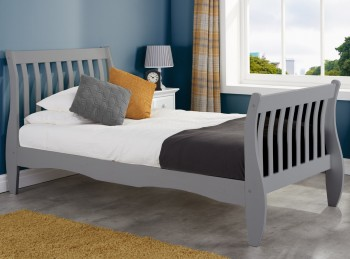 Birlea Belford 4ft6 Double Grey Wooden Bed Frame