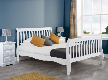 Birlea Belford 3ft Single White Wooden Bed Frame