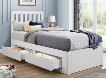 Birlea Appleby 3ft Single White Wooden Bed Frame With Drawers
