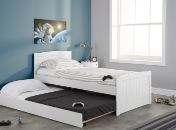 Birlea Beckton 3ft Single White Wooden Guest Bed