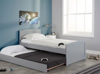 Birlea Beckton 3ft Single Grey Wooden Guest Bed