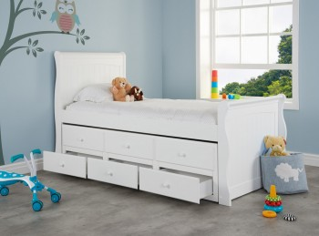 Birlea Verona 3ft Single White Wooden Guest Cabin Bed