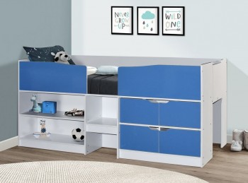 Birlea Merlin Cabin Bed White And Blue