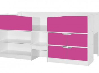 Birlea Merlin Cabin Bed White And Pink