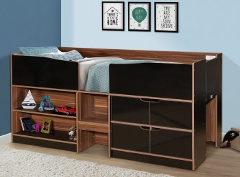Birlea Merlin Cabin Bed Black And Walnut