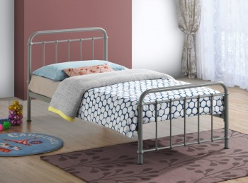 Time Living Miami 3ft Single Metal Bed Frame In Pebble