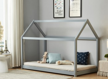Birlea House 3ft Single Grey Wooden Bed Frame