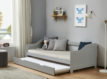 Birlea Brixton 3ft Single Grey Wooden Guest Day Bed