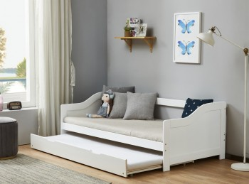 Birlea Brixton 3ft Single White Wooden Guest Day Bed