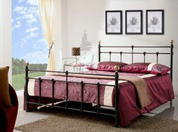 Birlea Atlas 4ft Small Double Black Metal Bed Frame