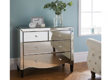 Birlea Palermo 2 Plus 2 Drawer Mirrored Chest