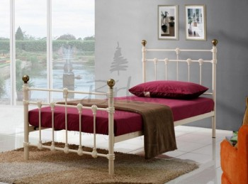 Birlea Atlas 3ft Single Cream Metal Bed Frame