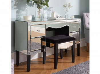 Birlea Palermo 4 Drawer Mirrored Dressing Table