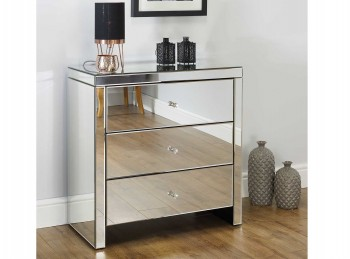 Birlea Seville 3 Drawer Mirrored Chest