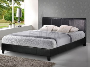 Birlea Berlin 4ft6 Double Black Faux Leather Bed Frame