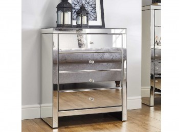 Birlea Seville 4 Drawer Mirrored Chest