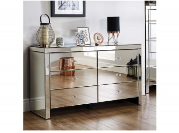 Birlea Seville 6 Drawer Mirrored Chest