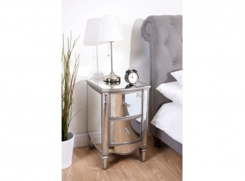 Birlea Elysee 2 Drawer Mirrored Bedside