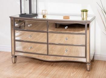 Birlea Elysee 6 Drawer Mirrored Chest