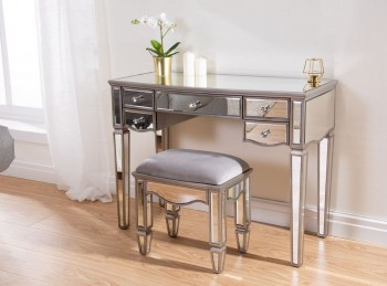 Birlea Elysee 5 Drawer Mirrored Dressing Table