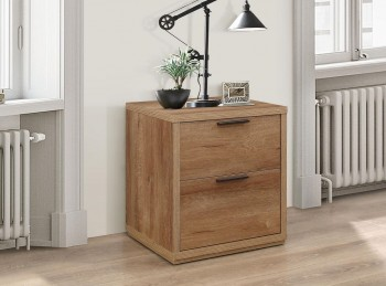 Birlea Stockwell Oak Finish 2 Drawer Bedside