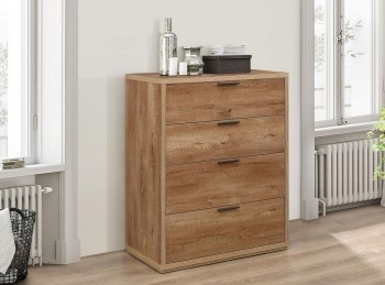 Birlea Stockwell Oak Finish 4 Drawer Chest