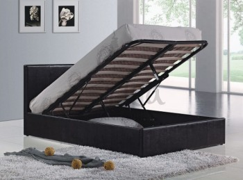 Birlea Berlin Ottoman 4ft Small Double Black Faux Leather Bed Frame