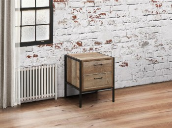 Birlea Urban Rustic Finish 2 Drawer Bedside