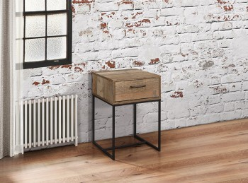 Birlea Urban Rustic Finish 1 Drawer Narrow Bedside