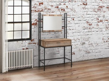 Birlea Urban Rustic Finish Dressing Table And Mirror