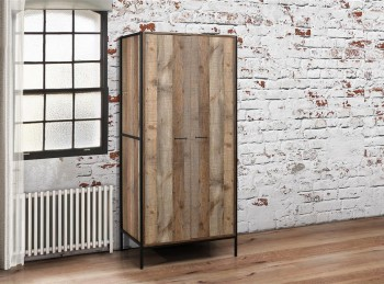 Birlea Urban Rustic Finish 2 Door Wardrobe