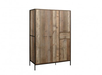 Birlea Urban Rustic Finish 4 Door Wardrobe
