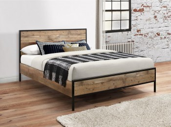 Birlea Urban 4ft Small Double Wooden Rustic Finish Bed Frame