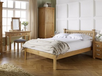 Birlea Woburn Oak 4ft6 Double Bed Frame